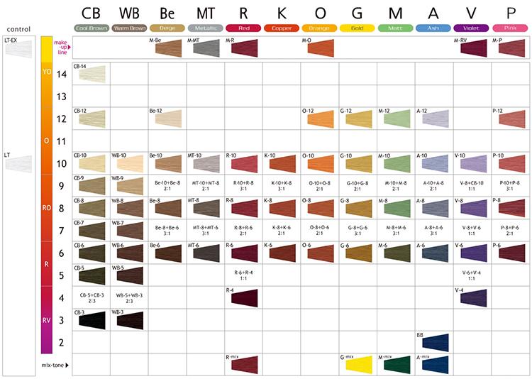 Палитра краски для Lebel Materia 3D